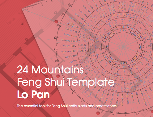 Lo Pan 24 Mountains template Feng Shui An Sterken